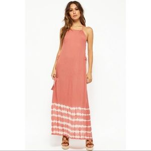 Tie-Dye Lace Up Maxi Dress Forever 21